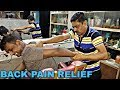 Back pain relief Head and body massage by Indian Street barber | Neck cracking | Powerful ASMR