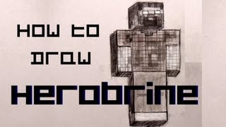 Ep. 50  How to draw Herobrine from Minecraft.
