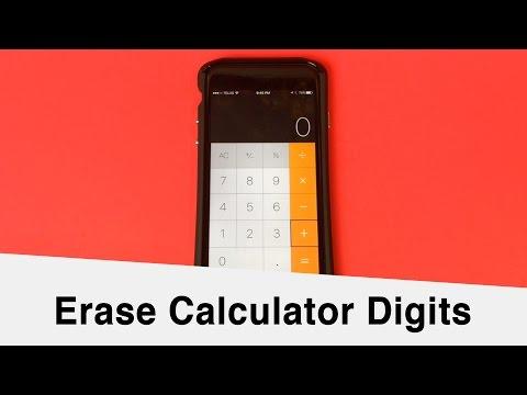 Delete iOS Calculator Digits - Simple Tips #1