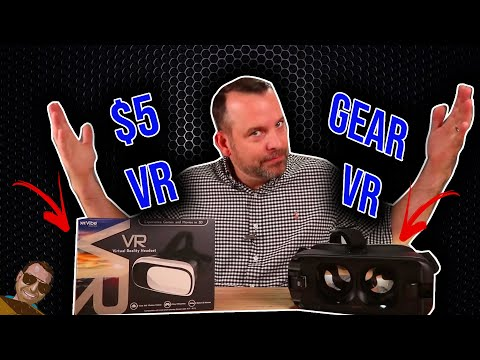 $5 VR vs Samsung Gear VR 2017.  How bad can it be? The best VR Headset.