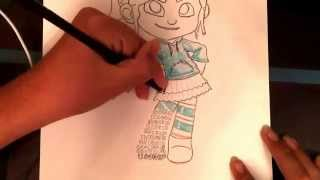 How to draw: Vanellope Von Schweetz part 3!