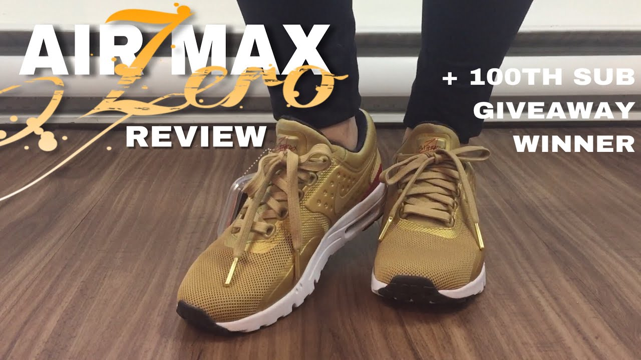competitive price f2bf2 7d6f1 reduced nike air max 1 sp size 11.5 22a2b 15dc0  coupon code for a closer  look on the nike air max zero gold qs 100th sub