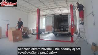 Montáž dvojstĺpového zdviháku v Šali | www.stargood.eu