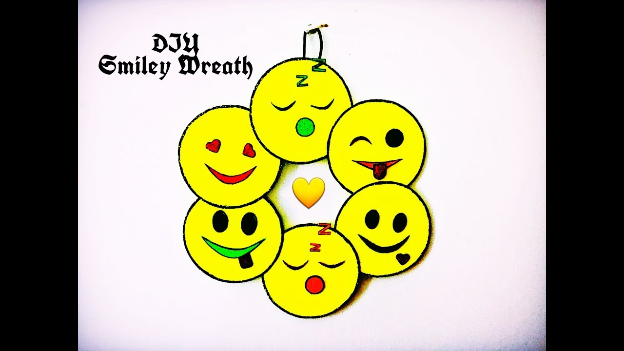 DIY - Mini Smiley Wreath ( Super Easy & Cute Wall Decor Ideas ...