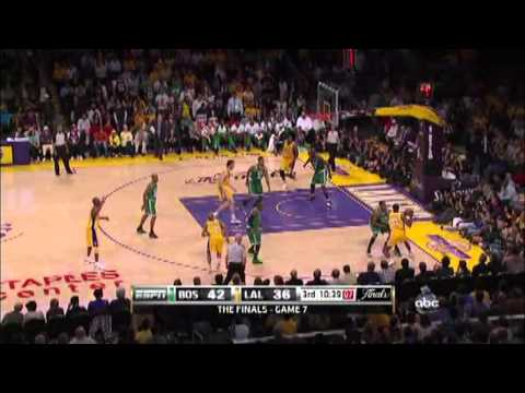 Ron Artest in 2010 NBA Finals (Celtics-Lakers): game 7