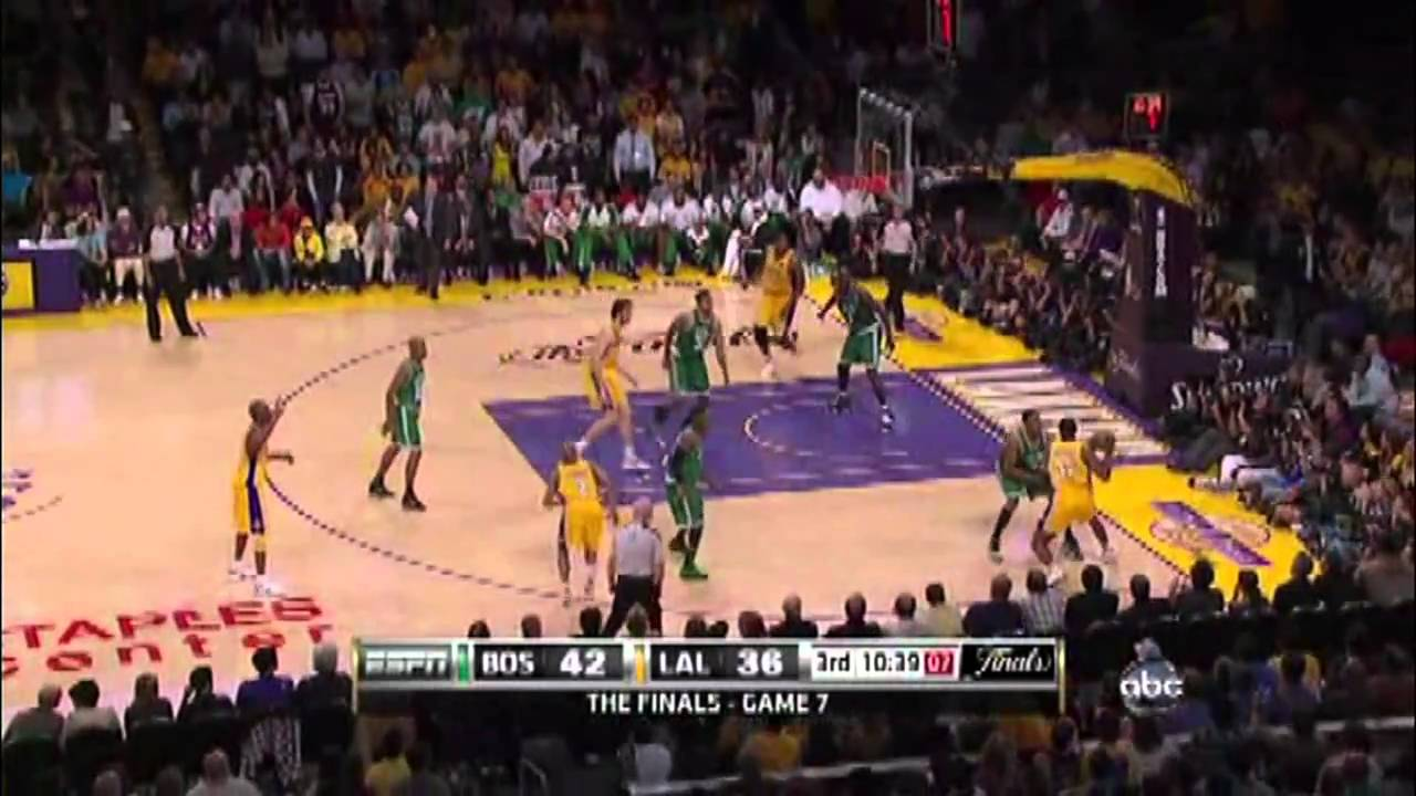 Ron Artest in 2010 NBA Finals (Celtics-Lakers): game 7 ...Lakers Game