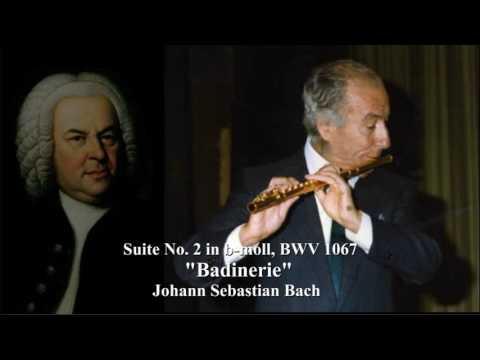 Johann Sebastian Bach  BADINERIE     Severino Gazzelloni