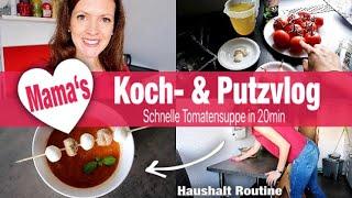 PUTZ- & KOCH VLOG einer MAMA | Putzroutine  | Cook & Clean | schnelle Tomatensuppe | Rebekka