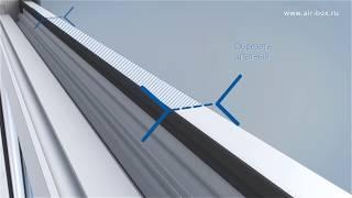 Припливний клапан Air-Box Comfort - Інструкція з монтажу припливного клапана