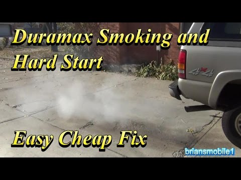 Duramax Smoking and Hard Start Easy Cheap Fixes