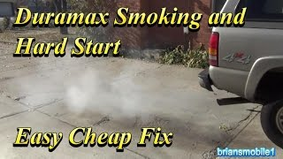 Duramax Smoking and Hard Start Easy Cheap Fixes