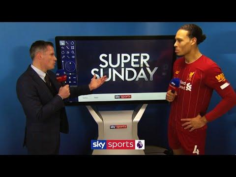 Virgil van Dijk reacts to his goal and THAT foul on David De Gea | Liverpool 2-0 Man Utd