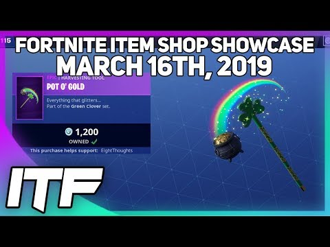 Fortnite Item Shop SGT. GREEN CLOVER + POT O' GOLD IS BACK AND MORE! [March 16th, 2019] thumbnail