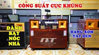 LOA KÉO ĐIỆN THÙNG GỔ VENEER  NT 1005 ✅ | Dàn âm thanh karaoke công suất lớn hay nhất giá 15 triệu