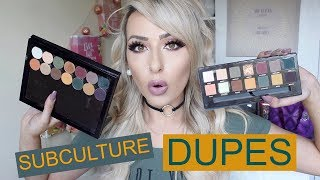 Testing ABH Subculture palette DUPES!  DramaticMAC