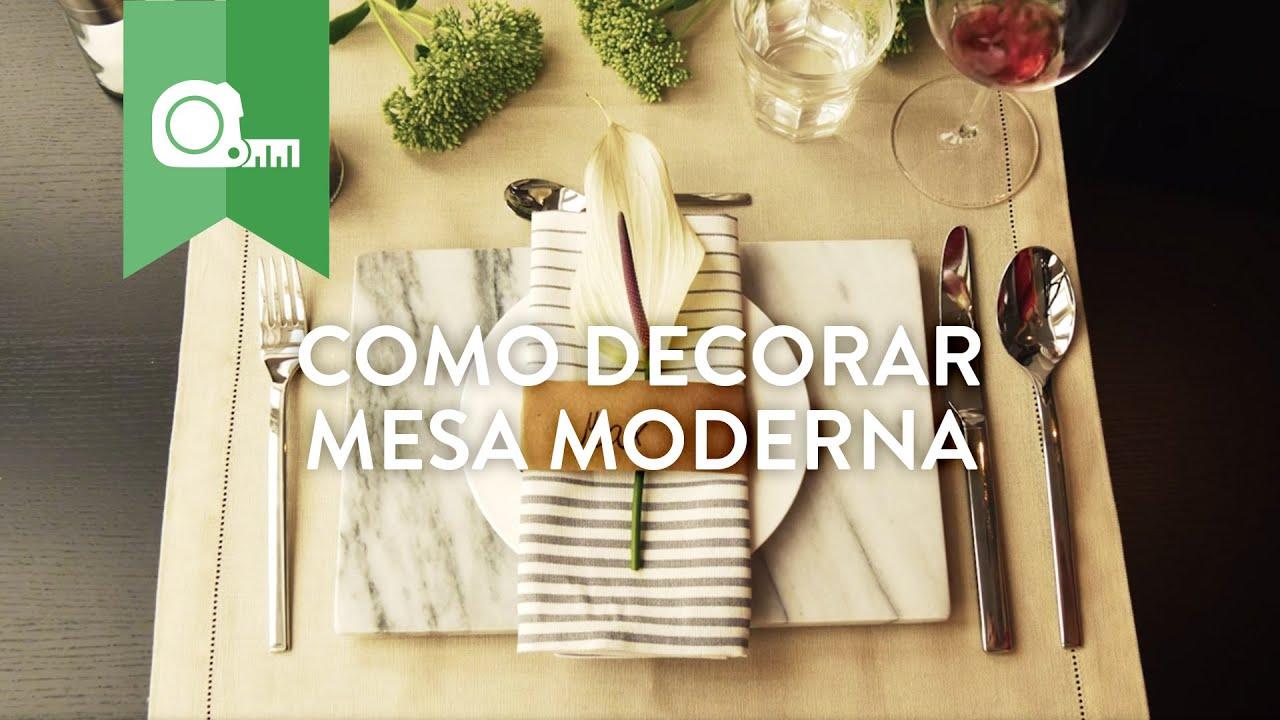 Como Decorar Mesa de Jantar Moderna WESTWING YouTube -> Como Decorar Mesa De Jantar Para Casamento