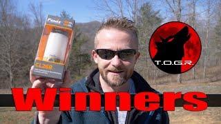 Winner Announcements - Fenix CL26R Lantern Giveaway