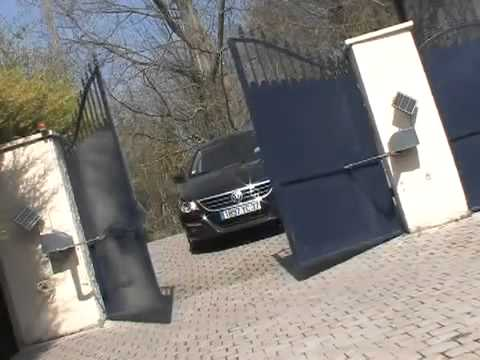 motorisation portail solaire youtube. Black Bedroom Furniture Sets. Home Design Ideas
