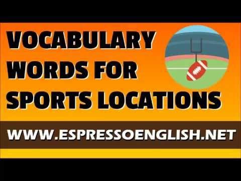 English Vocabulary Words: Sports Locations