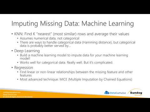 Imputation Methods For Missing Data