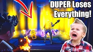 Angry Rich DUPER Scams Himself! (Scammer Gets Scammed) Fortnite Save The World