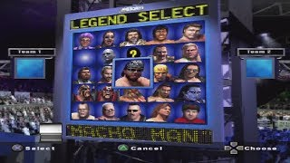 (Showdown Legends of Wrestling)Character Select Screen Roster