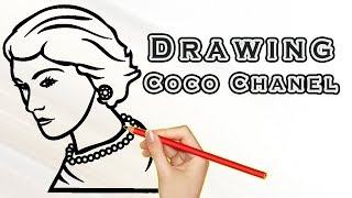 Drawing Coco Chanel | Draw Easy For Kids | Drawing Famous People Coco Chanel