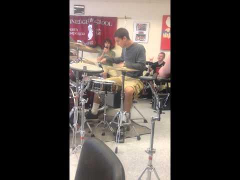 Plainedge drum line drum battle