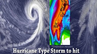 Alert! Danger! 4 Storms w Hurricane Winds to hit N. California & Northwest Pacific USA Coast