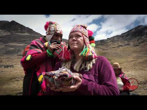 Peru Shaman Offers Blessing in Bands of Protection on Sacred Mountain