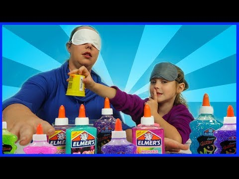 Blindfolded Slime Challenge! Kid vs Mom Challenge