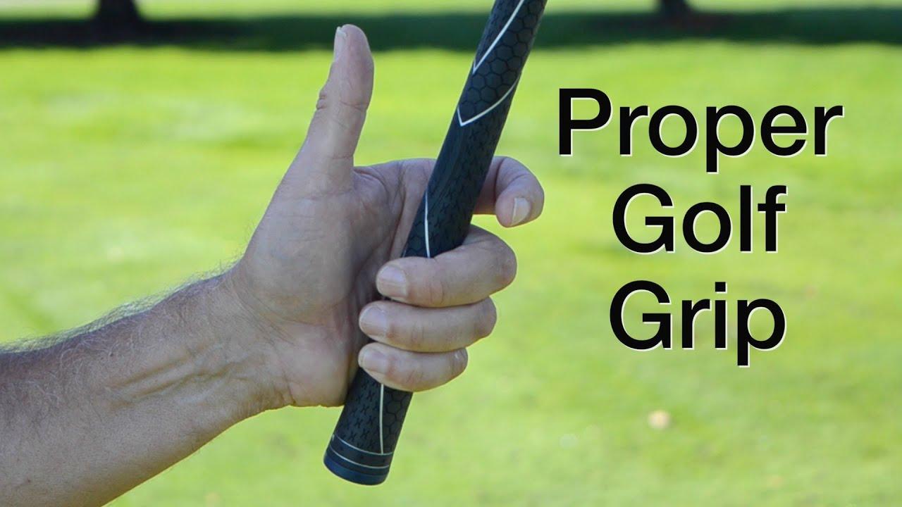 Proper Golf Grip Holding The Golf Club Youtube