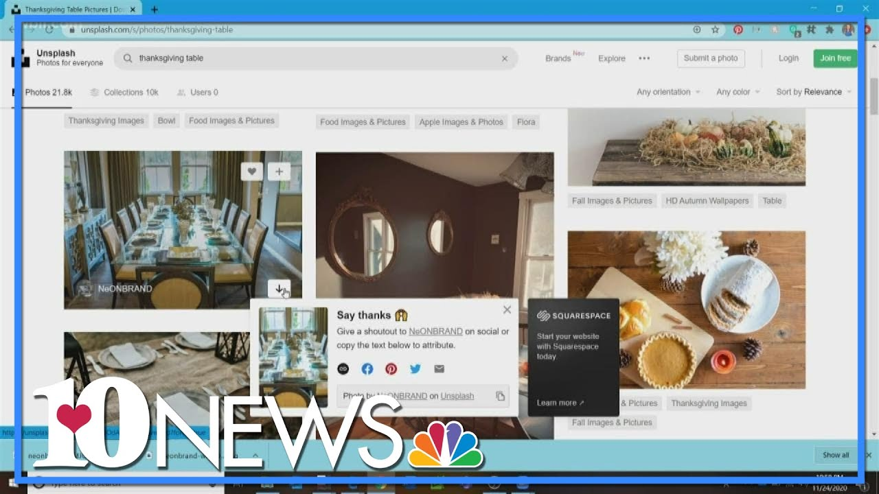 How to set up a virtual Zoom Thanksgiving background - WBIR Channel 10