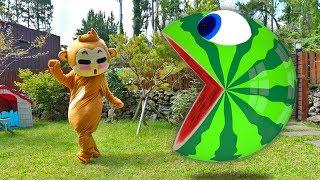 Pacman Watermelon 전래 동요 인기 동요 놀이 Mainan dan lagu anak-anak 어린이 노래
