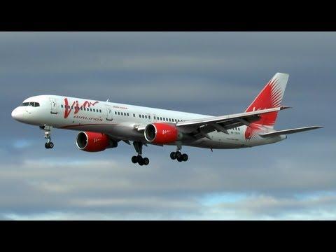 VIM Airlines B757-200 landing at Barcelona.