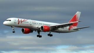 VIM Airlines B757-200 landing at Barcelona.