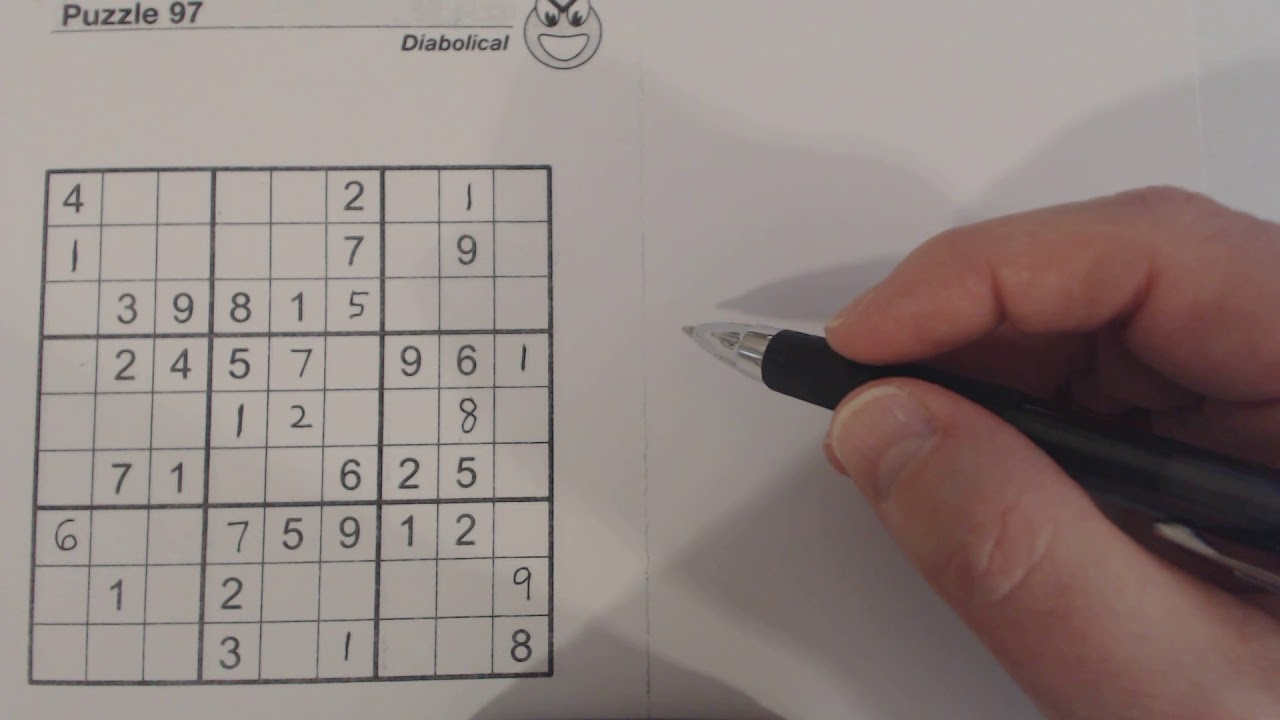 SudokuPrimer 69 - pseudo-quiz solving a diabolical puzzle (sudoku pro)