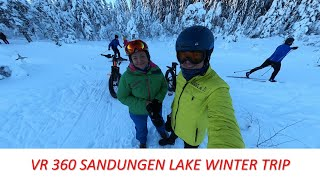 VR 360 Sandungen lake winter trip