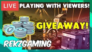 (v bucks giveaway) Fortnite live! sniper shootout and 1v1 with viewers! (fortnite battle royale)