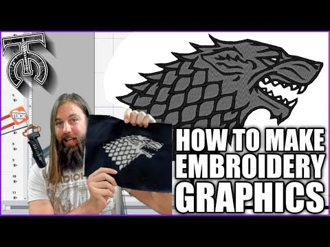 How To Digitize Graphics For Embroidery - Tock Custom