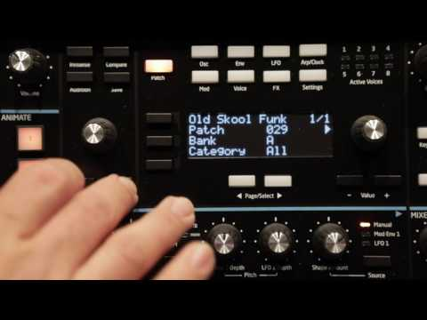 Novation Peak Factory Patch Audition