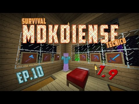 Survival Mdkdiense Tecnico 1.9 | Ep.10 | Wither, Slimes Infinitos & Caballos Esqueletos | MdkProHD