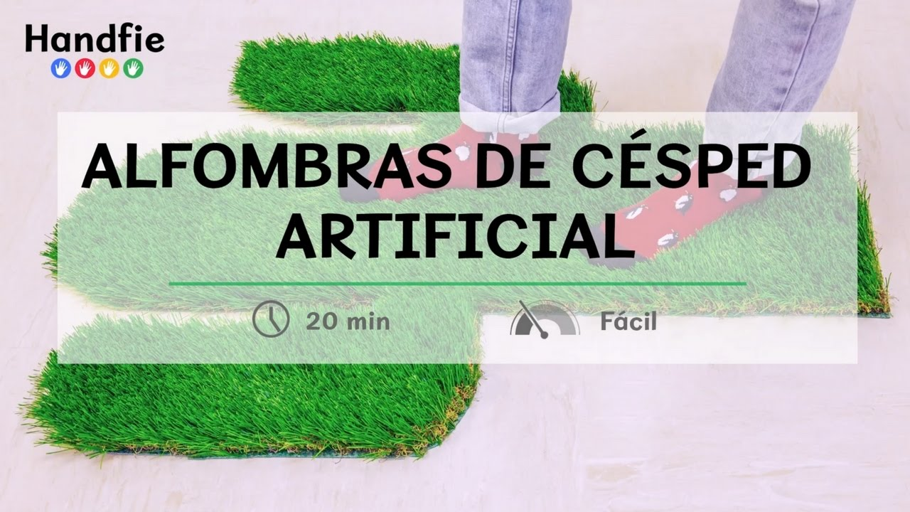 alfombras con c sped artificial handfie diy youtube