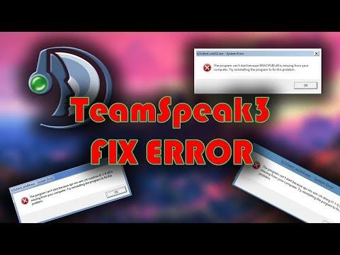 Kako resiti problem sa TeamSpeak3