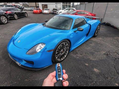 Porsche 918 Spyder Start Up \u0026 Review , VooDoo Blue 918 Spyder
