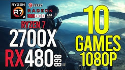 Part1! 10 GAMES on RX 480 8gb 1080p FPS BENCHMARKS