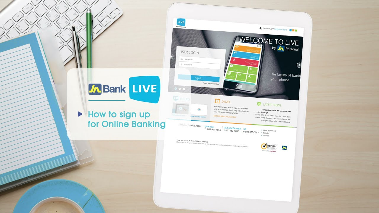 Download How to sign up for JN Bank Live Online Banking
