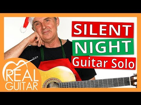 Silent Night Guitar Solo Christmas Song Tutorial