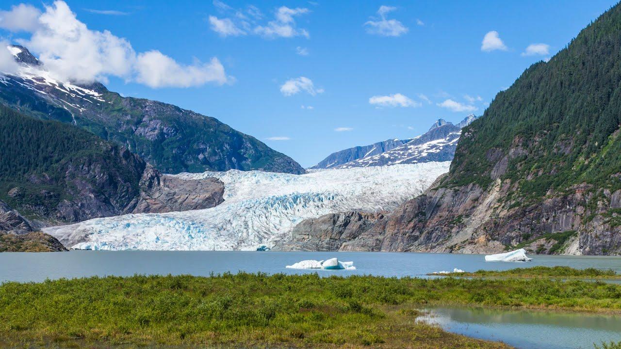 Mendenhall Glacier in Juneau, Alaska - YouTube