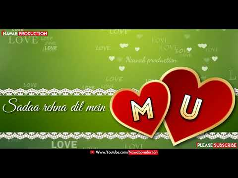 M U Letters Couples Name Whatsapp Status   YouTube